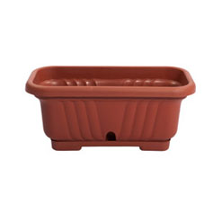 Elba Rectangular with Fixed Coaster Planter